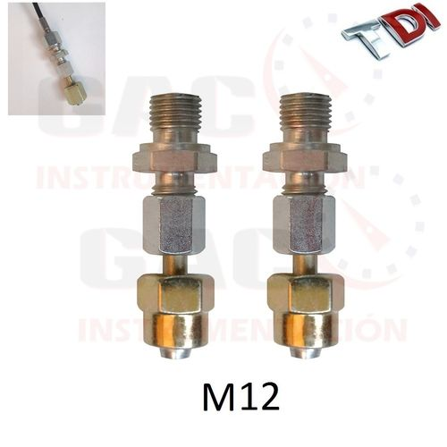 2 ADAPTADORES COMPLETOS M12 PARA CONEXION COMMON RAIL