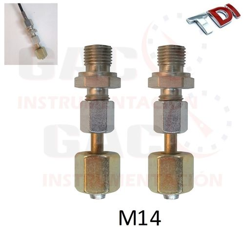 2 ADAPTADORES COMPLETOS M14 PARA CONEXION COMMON RAIL