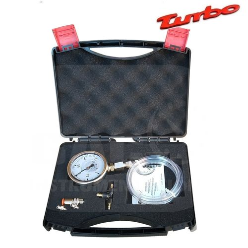 KIT DIAGNOSIS TURBO CAJA INOX MANOVACUOMETRO de -1+1,5 bar + AGUJA+TE