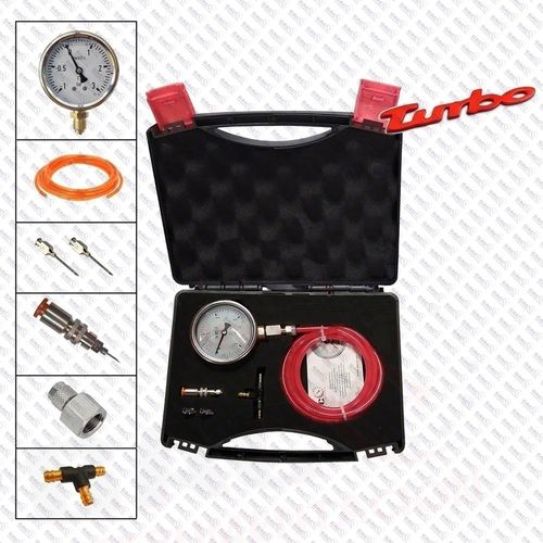 KIT DIAGNOSIS TURBO CAJA INOX MANOVACUOMETRO de -1+3 bar + AGUJA+TE